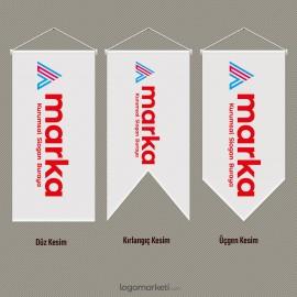 Saten Kırlangıç Bayrak - 50x100 cm