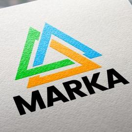 Hazır Tasarım Kurumsal Üçgen Logo