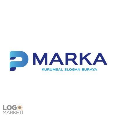 3 Boyutlu P Harfi Logo Tasarımı
