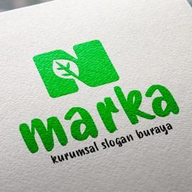 N Harfi ve Yaprak Hazır Logo Tasarımı