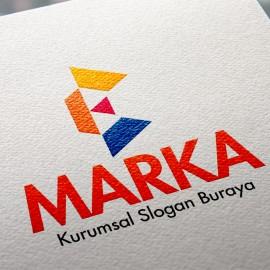 Geometrik E Harfi Logo Tasarımı