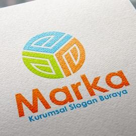 Geometrik Dairesel E Harfi Logo Tasarımı