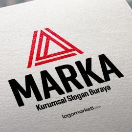 Üçgen A Harfi Hazır Logo Tasarımı
