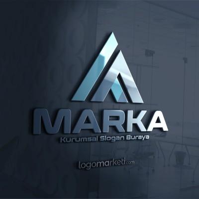 Üçgen A Harfi Logo Tasarımı