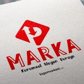 P Harfi Hazır Logo Tasarımı