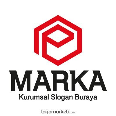 E Harfi Altıgen Logo Tasarımı