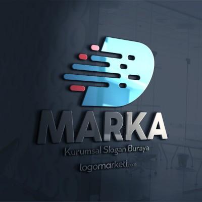 Modern D Harfi Hazır Logo Tasarımı