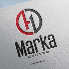 Modern O, H ve D Harfleri Hazır Logo Tasarımı