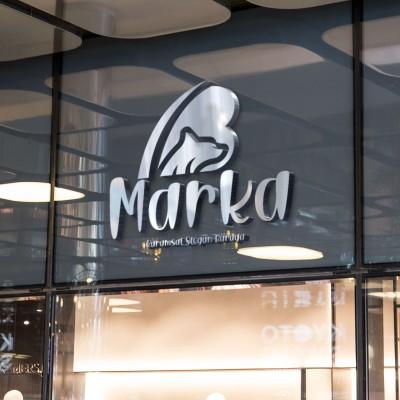 B Harfi Pet ve Köpek Temalı Logo Tasarımı