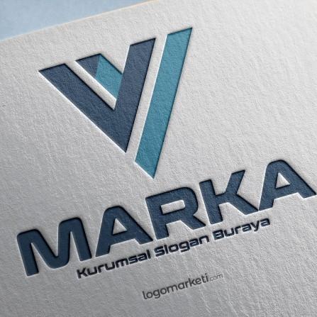 V Harfi Logo Tasarımı